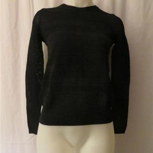 VINCE BLACK KNITTED LONG SLEEVES SWEATER TOP XS
